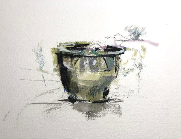 """#01 9""""x12"""" Pencils Movlin Watercolor paper"""