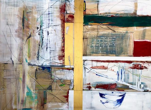 "Untitled II, 2020 48""x36"" Mixed media, on wood $4,500"