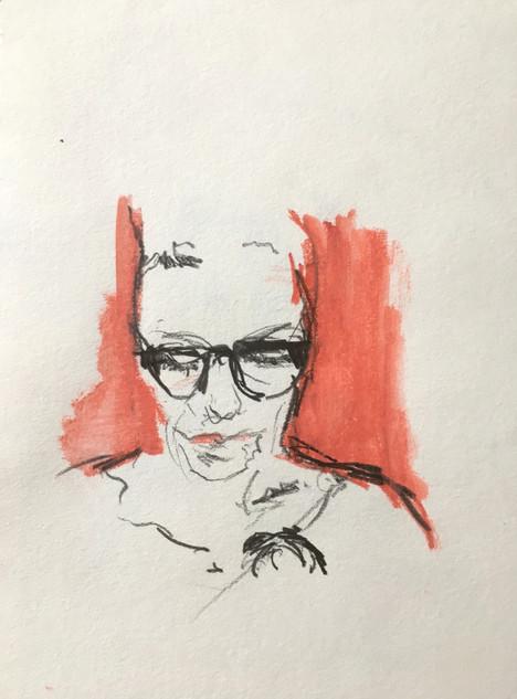 """Smedi, 2013 Pencil, on paper 6"""" x 9"""""""