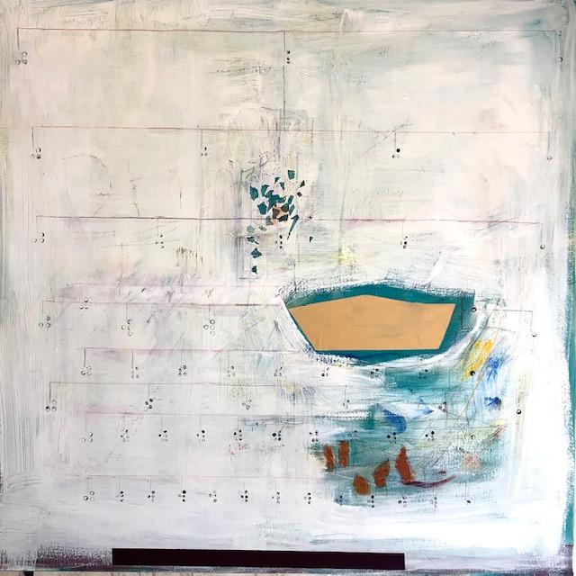 "Fractions, 2021 Acrylic on canvas 48""x48"""