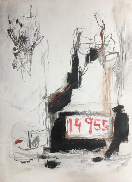"Acrylic, pencil, on paper 24"" x 18"""
