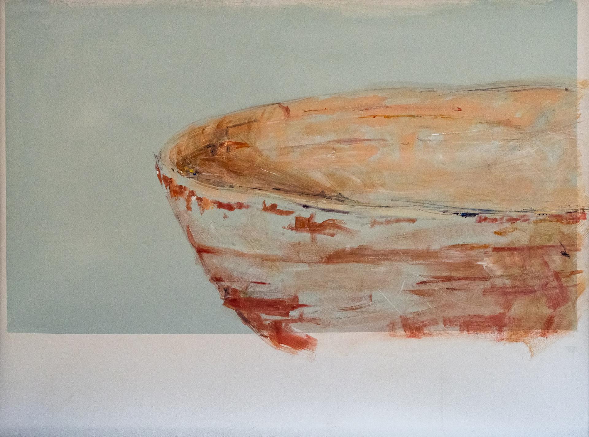 """Urgent still, 2019 Acrylic, pastel, on canvas 71.5"""" x 53"""" framed"""