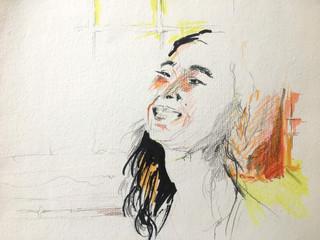 "Michelle, 2014 Pencils, on paper 11"" x 10"""