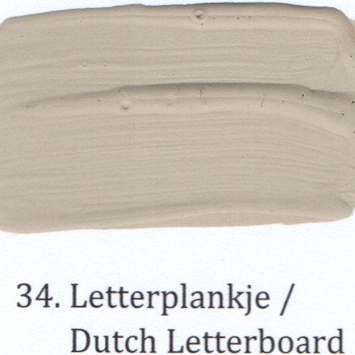 Kleur 34. Letterplankje