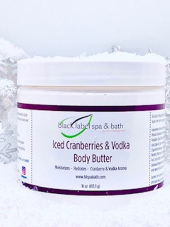 Iced Cranberries & Vodka Body Butter 16 oz
