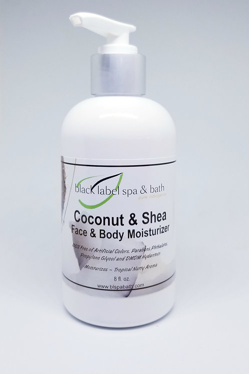 Coconut & Shea Face and Body Moisturizer