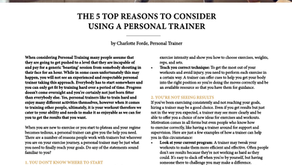 The 5 top reasons to consider using a Personal Trainer