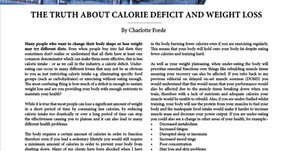 The Truth About Calorie Deficit And Weight Loss