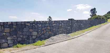 100 meter boundary wall in howick, estuary views