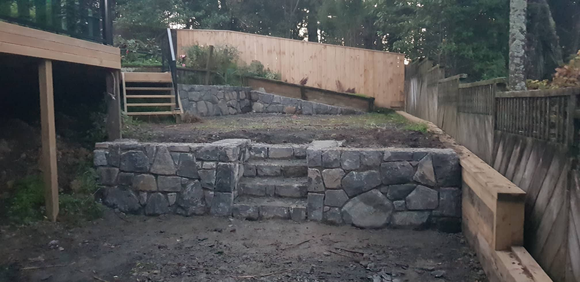 Bluestone Retaining Wall