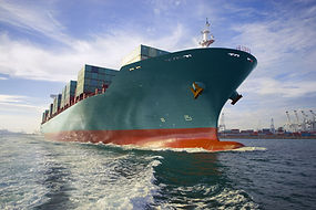 Photo ofcontainer ship - low angle