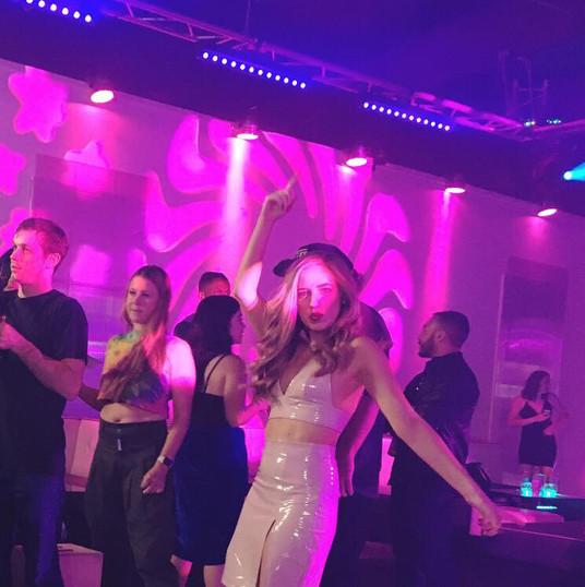 Actress Jamie Miller on set of CLUB RAT$