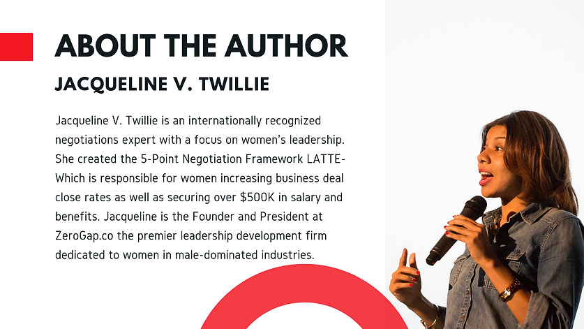 Negotiation Framework - Don't Leave Money On The Table Book by Jacqueline V. Twillie