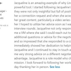 testimonial working with Jacqueline Twillie - What it's like working with Jacqueline