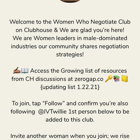 ClubHouse Recap: Women Who Negotiate