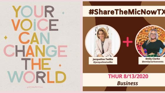 Jacqueline V. Twillie, Featured on #ShareTheMicNowTX