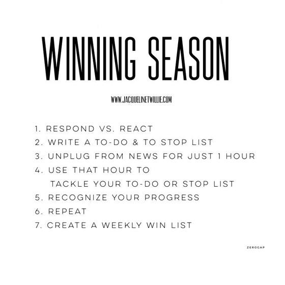 It's still winning season
