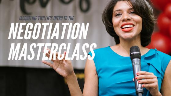 Intro the Negotiation MasterClass