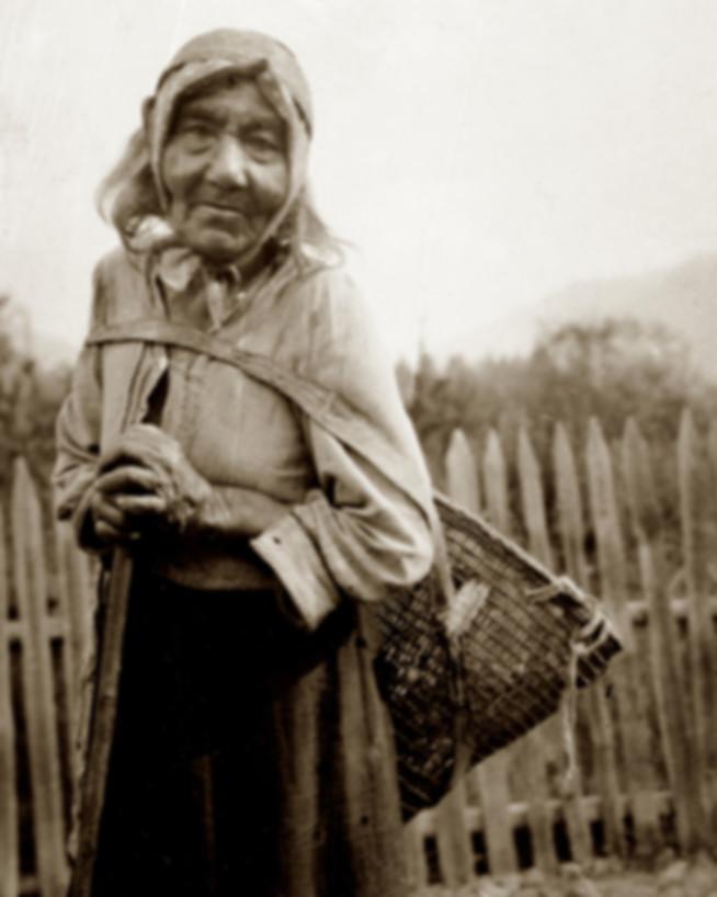 karuk woman with burden basket2 - nichol
