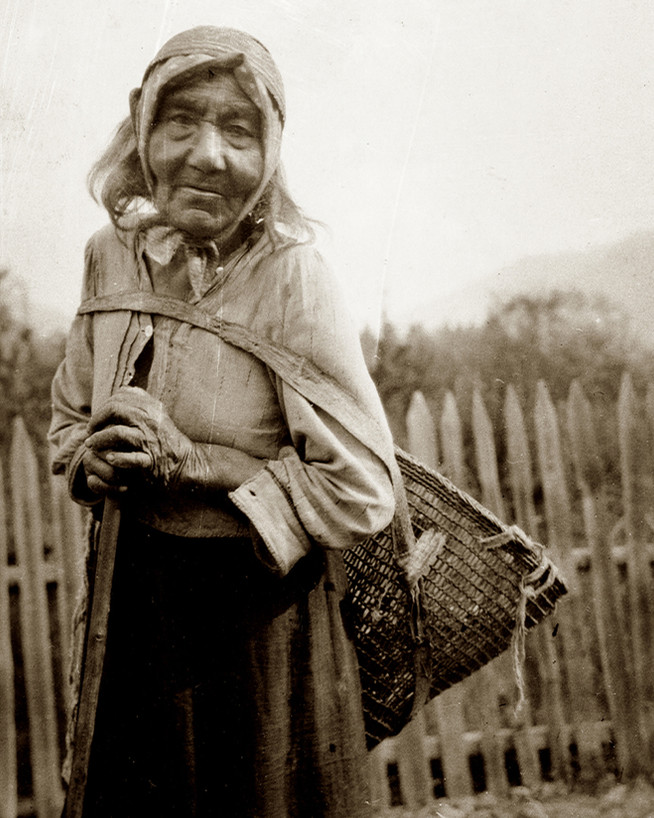 karuk woman with burden basket2 - nichol