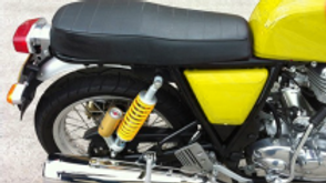 RE Continental GT Dual Seat With Foot Rest / Cowl