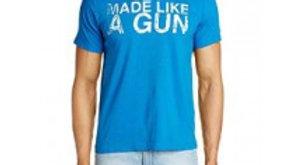 Gun T-Shirt With Vintage Logo Blue