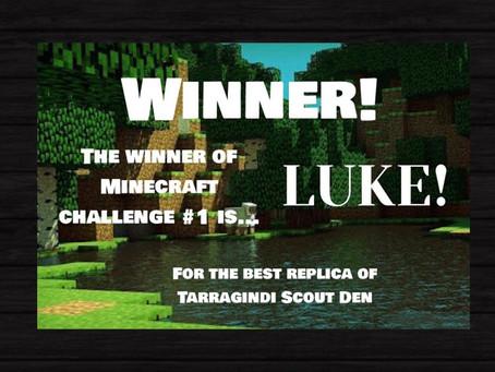 Minecraft Challenge #1 Winners