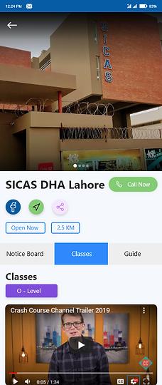 School Business Screen 1 Updated Classes