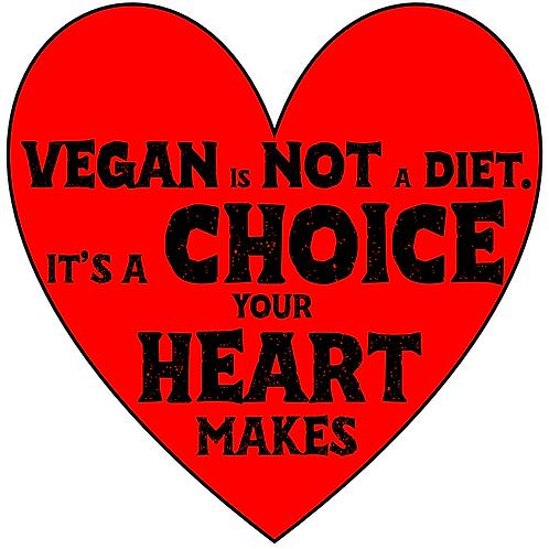 'VEGAN IS NOT A DIET' bumper sticker