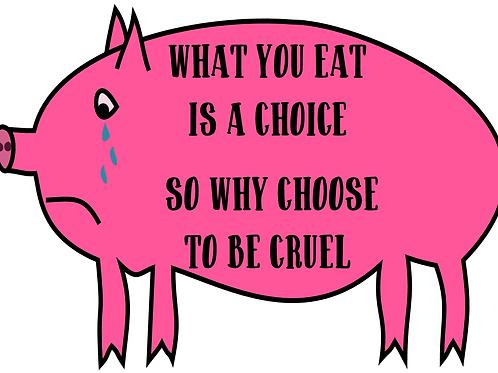 'WHAT YOU EAT' bumper sticker