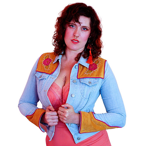 """YOUR Jacket Upcycled with THIS Design """"Annie Oakley"""""""