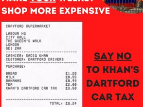 No to Labour's Dartford Car Tax