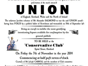 7th November - Union celebration drinks