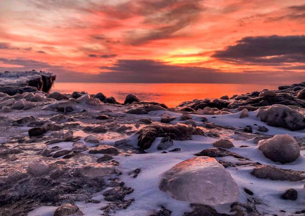 Lake Huron Winter Sunrise