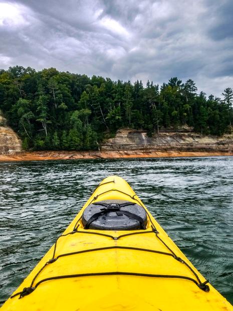 Kayaking at Pictured Rocks