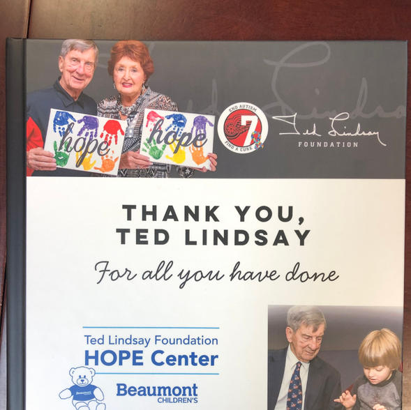 Ted Lindsay Foundation-Book