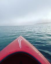 Kayaking in the fog of Marine City, Michigan