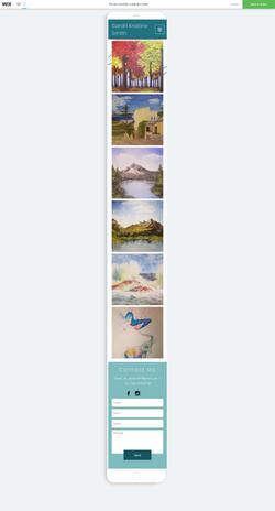 Paintings Portfolio Page-Phone