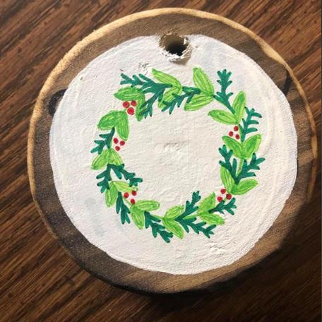 Hand Painted Christmas Ornament.JPG