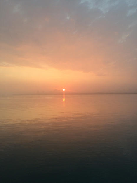 A foggy sunrise. Oscoda, MI