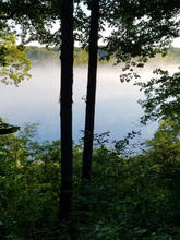 Morning fog at Proud Lake, Michigan