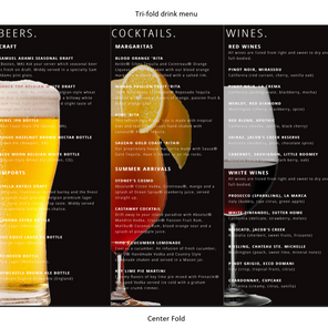 Drink Selection Menu