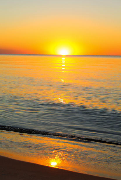 Oscoda Sunrise Reflection August.JPG