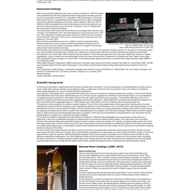 Moon Landing Article