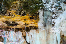 Ice Seeping Out of Pictured Rocks