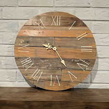 Clocks-Reclaimed Wood