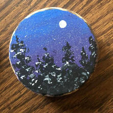 Hand Painted Snowfall Ornament.JPG