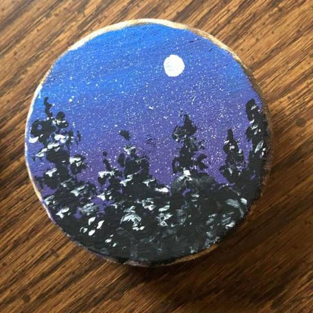 Hand Painted Snowfall Ornament.JPG
