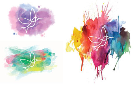 Watercolor splash thumbnails