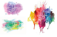 Watercolor splash thumbnails